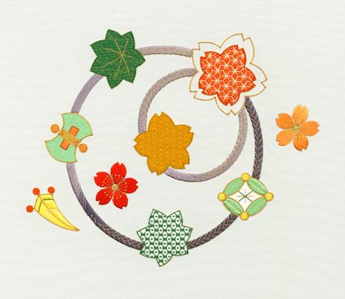 日本刺繍の技法「むしろぬい」01