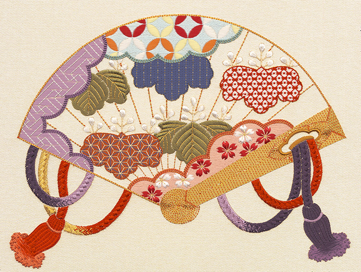 日本刺繍の技法 上模様下ごしらえ(糸張り)