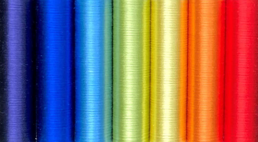 刺繍糸の虹色